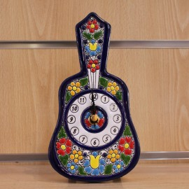 "RELOJ ""Cuerda-Seca"" 20 CM GUITARRA. COLOR"