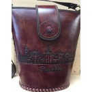 HANGING BAG WITH ZIPPER. RECYCLED LEATHER. SEVILLE. 910