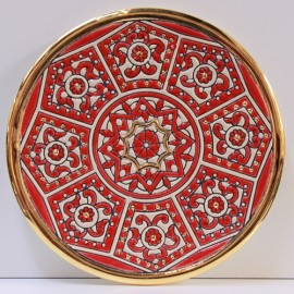 "PLATE ""CUERDA SECA"" 17 CM Red Collection"