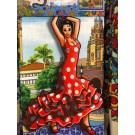 kitchen cloth - Flamenco dancer - 423004