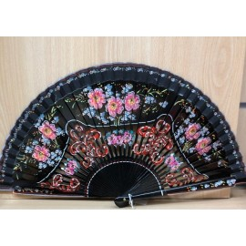 FAN. Hand painted - black