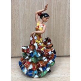FLAMENCO DANCERS. 9 CM. RED WHITE
