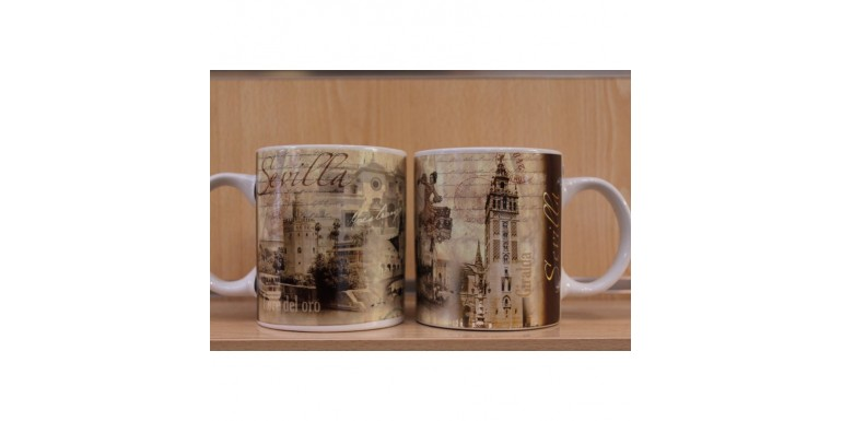 Add a mug of Sevilla, Spain to your collection of souvenir mugs